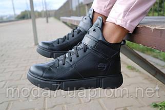 Женские ботинки кожаные зимние черные Road-style БС105-01К, фото 2