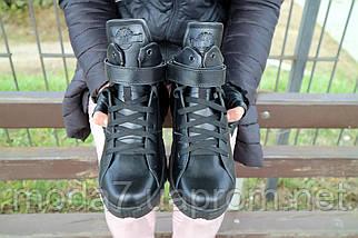 Женские ботинки кожаные зимние черные Road-style БС105-01К, фото 3