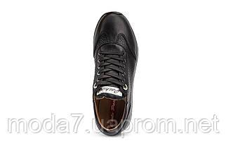 Женские кроссовки кожаные весна/осень черные Calo Pachini 4505/20-18, фото 2