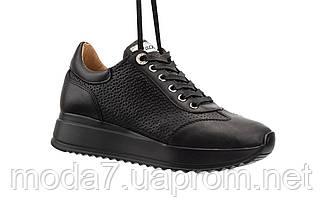 Женские кроссовки кожаные весна/осень черные Calo Pachini 4505/20-18, фото 3