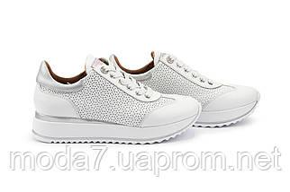 Женские кроссовки кожаные весна/осень белые Calo Pachini 4505/20-98, фото 3
