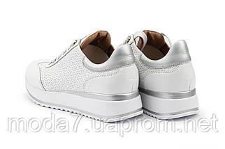 Женские кроссовки кожаные весна/осень белые Calo Pachini 4505/20-98, фото 2