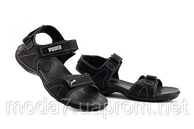 Подростковые сандали кожаные летние черные-серые Monster Tracking П-сер