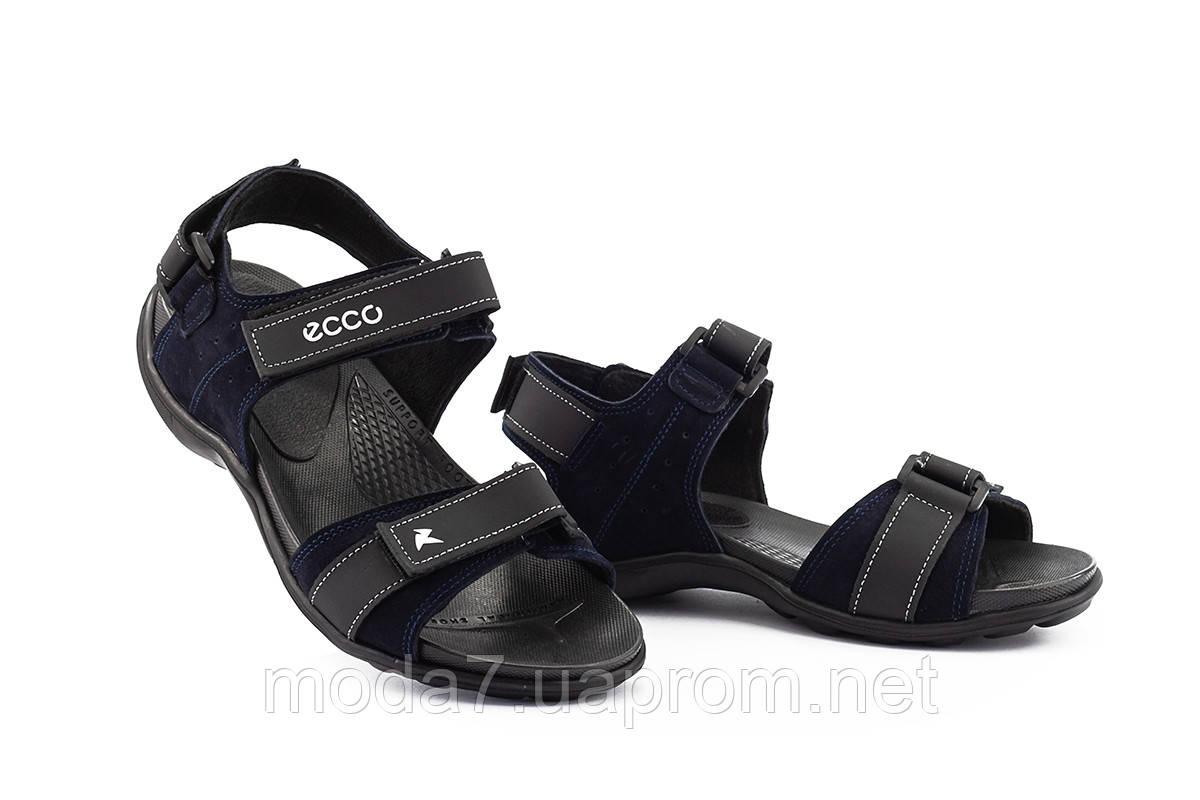 Подростковые сандали кожаные летние синие Monster Biom Е-син