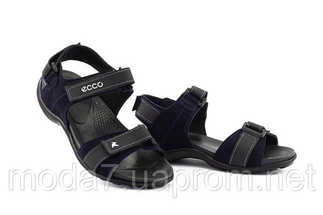Подростковые сандали кожаные летние синие Monster Biom Е-син, фото 2