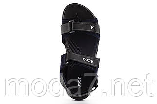 Подростковые сандали кожаные летние синие Monster Biom Е-син, фото 3