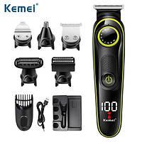 Многофункциональный Триммер набор для стрижки волос  Kemei KM-696 5 в 1  (3-10 мм)