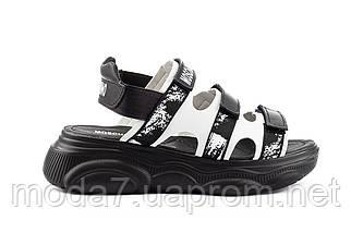 Женские босоножки кожаные летние черные Best Vak Moschino Л 67-01 Black, фото 2