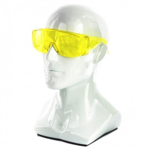 Окуляри захисні відкритого типу, жовті, ударостійкий полікарбонат