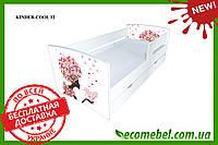 Кровать для девочки с бортиками  NEW Воздушный поцелуй 2