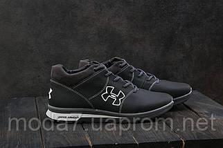Мужские кроссовки кожаные зимние черные-серые CrosSAV 121, фото 3