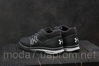 Мужские кроссовки кожаные зимние черные-серые CrosSAV 121, фото 2