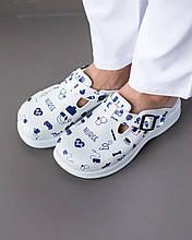 Обувь сабо на ортопедической платформе с принтом NURSE женские