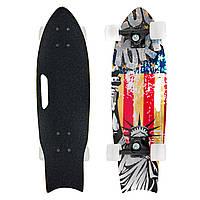 Скейтборд в сборе (роликовая доска) 818-A (колесо, р-р деки 68х21х1,2см, цвета в ассортименте)