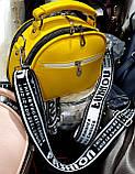 Жіночі клатчі Zara на 2 відділення на блискавці і з ручкою 22*17 см (пудра і жовтий), фото 2