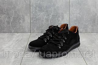 Мужские Повседневная обувь замшевые весна/осень черные Yuves 650, фото 2