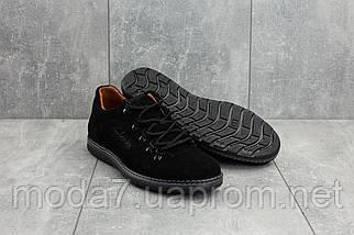 Мужские Повседневная обувь замшевые весна/осень черные Yuves 650, фото 3