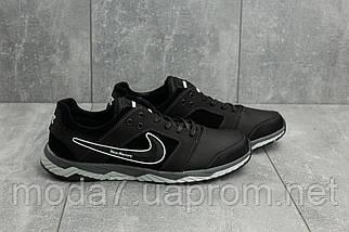 Мужские кроссовки кожаные весна/осень черные-белые New Mercury N8, фото 2