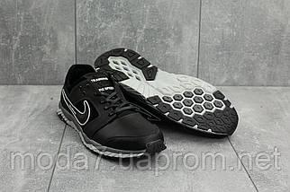 Мужские кроссовки кожаные весна/осень черные-белые New Mercury N8, фото 3