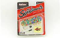 Фингерборд-мини скейт SK-9907 (1 фингерборд, 4зап.колеса, 1ключ, 1отвер, 2шур, 2гайки, накл, пластик, металл)