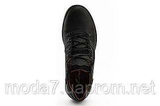 Мужские Повседневные туфли кожаные весна/осень черные-матовые Yuves 650, фото 3