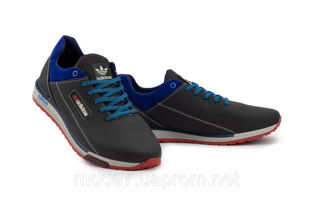 Мужские кроссовки кожаные весна/осень синие-голубые CrosSAV 39
