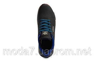 Мужские кроссовки кожаные весна/осень синие-голубые CrosSAV 39, фото 3
