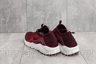 Мужские кроссовки текстильные весна/осень бордовые Classica A 023 -1, фото 2