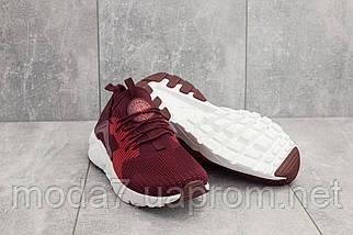 Мужские кроссовки текстильные весна/осень бордовые Classica A 023 -1, фото 3