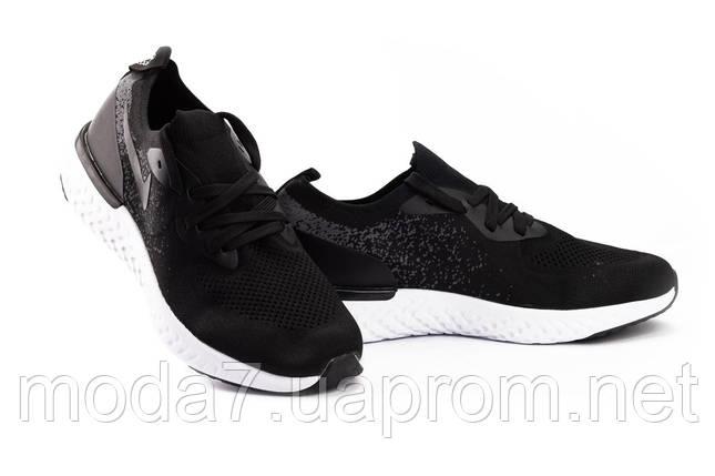 Мужские кроссовки текстильные весна/осень черные Classica G 5085 -5, фото 2
