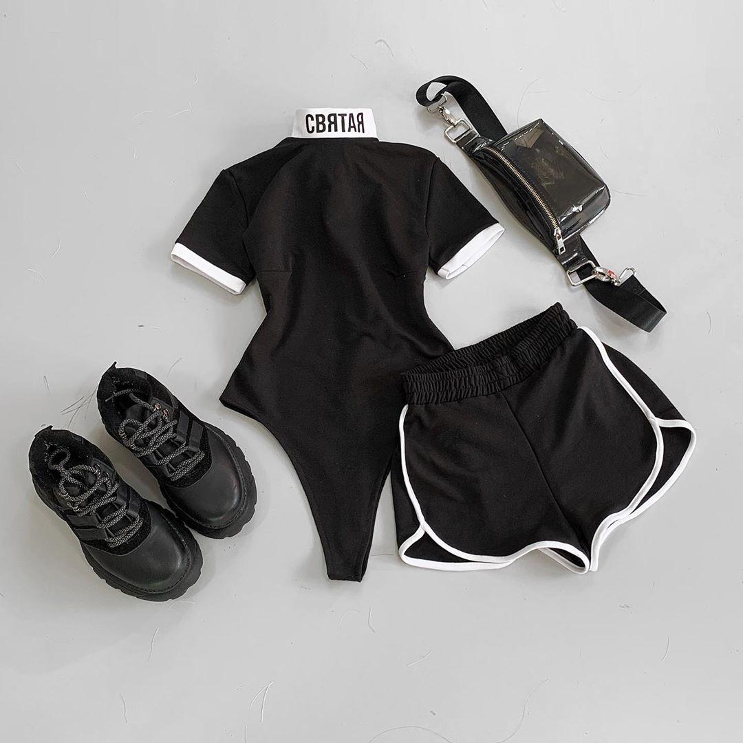 Женский летний костюм Боди и шорты Святая