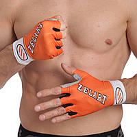 Перчатки с длинной эластичной манжетой Zelart ZG-3601 (откр.пальцы, р-р XS-L,цвета в ассортименте)