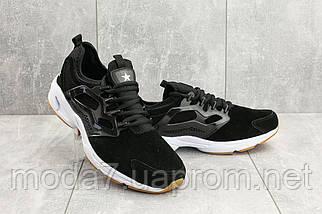 Мужские кроссовки замшевые весна/осень черные Classica G 5025, фото 3