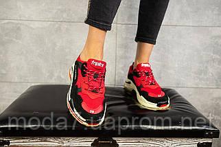 Женские кроссовки текстильные весна/осень красные-черные Aoka B 647 -11, фото 3
