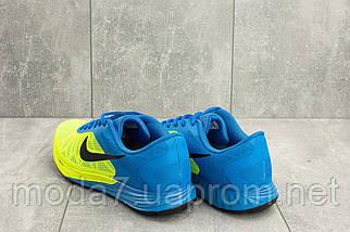 Мужские кроссовки текстильные весна/осень салатовые-голубые Baas A 404 -15, фото 2