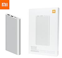 Оригинальный Xiaomi Mi Power Bank 3 10000 mAh PLM13ZM Silver (VXN4259CN) Быстрая Зарядка QC3.0 18W