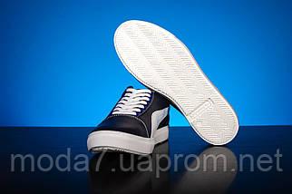 Мужские кеды кожаные весна/осень синие-белые CrosSAV 120, фото 2