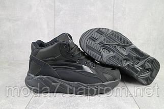 Мужские кроссовки искусственная кожа зимние черные Situo 989 -2, фото 2