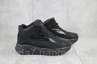 Мужские кроссовки искусственная кожа зимние черные Situo 989 -2, фото 3