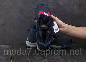 Мужские кроссовки искусственная кожа зимние синие Ditof А 1881 -4, фото 2