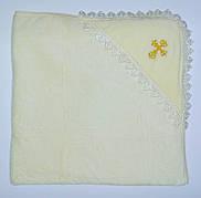 """Крыжма для крещения - полотенце-уголок для крещения """"Крестик"""" золото"""