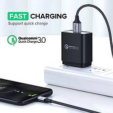 Оригинальный кабель UGREEN US290 White MicroUSB Fast Charge 3A быстрая зарядка 60151, фото 3