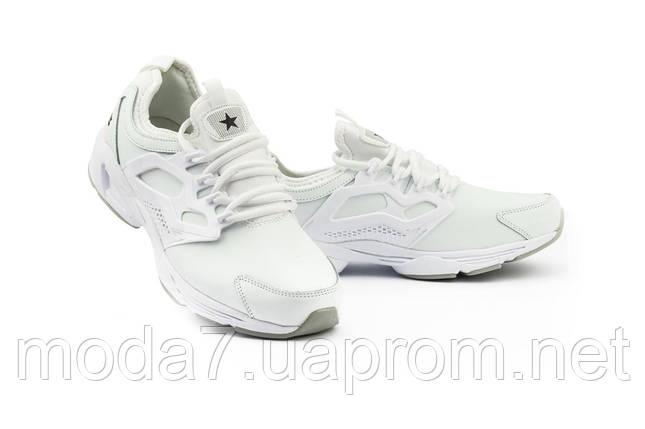 Мужские кроссовки искусственная кожа весна/осень белые Classica 5025, фото 2