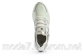 Мужские кроссовки искусственная кожа весна/осень белые Classica 5025, фото 3