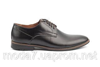 Мужские туфли кожаные весна/осень черные Vankristi 280, фото 2