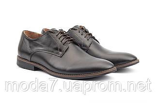 Мужские туфли кожаные весна/осень черные Vankristi 280, фото 3