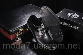 Мужские туфли кожаные весна/осень черные Vankristi 343, фото 3
