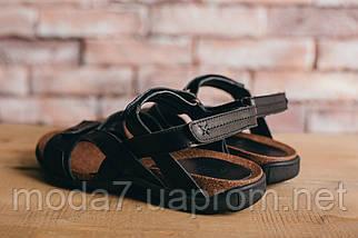 Мужские сандали кожаные летние черные-коричневые StepWey 1072, фото 2