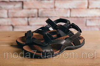 Мужские сандали кожаные летние черные-коричневые StepWey 1072, фото 3