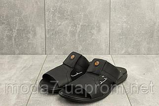 Мужские шлепанцы кожаные летние черные Yavgor ЧК, фото 2